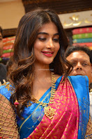 Puja Hegde looks stunning in Red saree at launch of Anutex shopping mall ~ Celebrities Galleries 011.JPG
