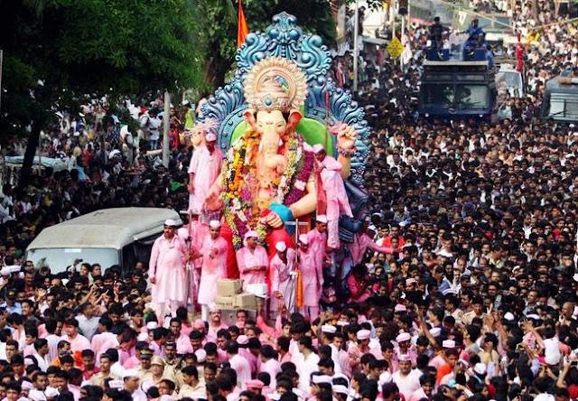 Lalbaugcha Raja Live Visarjan Mumbai 2016