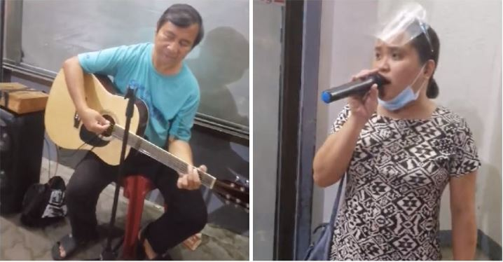 Woman sings to help random beggar