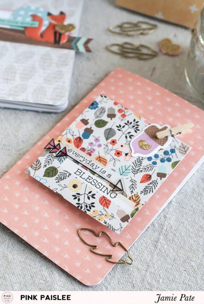Mini Gratitude Journal made with Pink Paislee Cedar Lane by Jamie Pate  | @jamiepate for @pinkpaislee