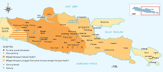 Letak dan Peta Kerajaan Kediri
