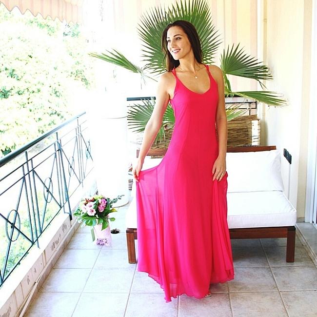 duge pink haljine za matursko vece i specijalne prilike