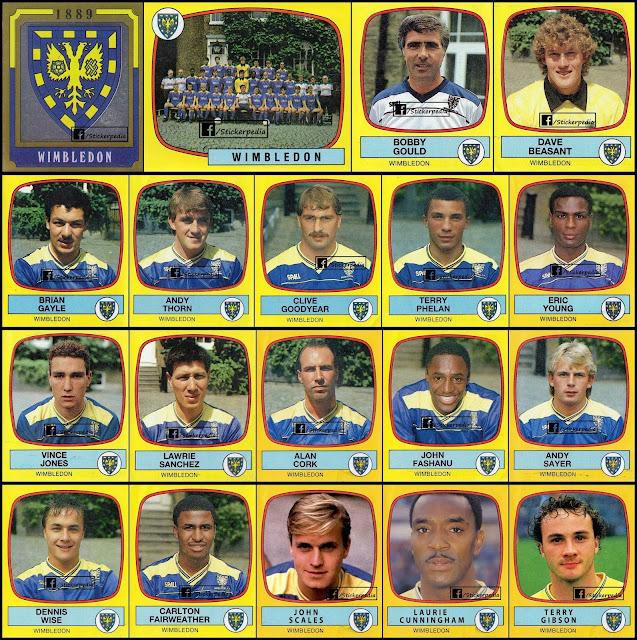 Panini Football 1987/88 Wimbledon