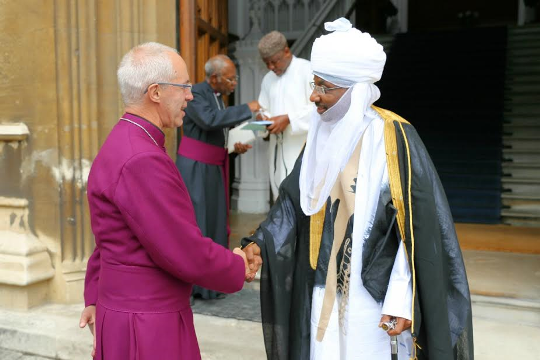 Photos: Emir of Kano M. Sanusi II meets with Archbishop of Canterbury, Justin Welby in London