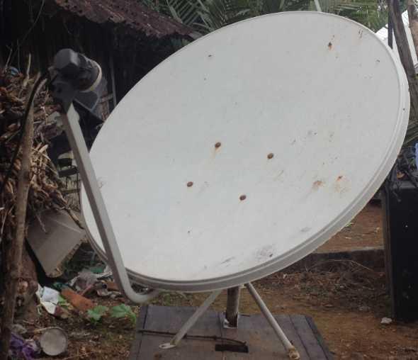 Parabola Terlock Satelit Measat 3a