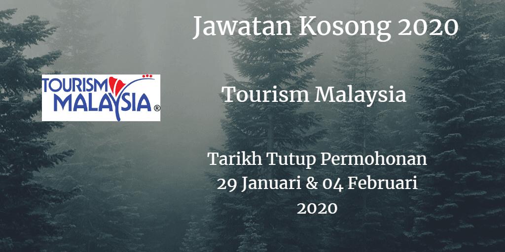 Jawatan Kosong Tourism Malaysia 29 January dan 04 Februari 2020