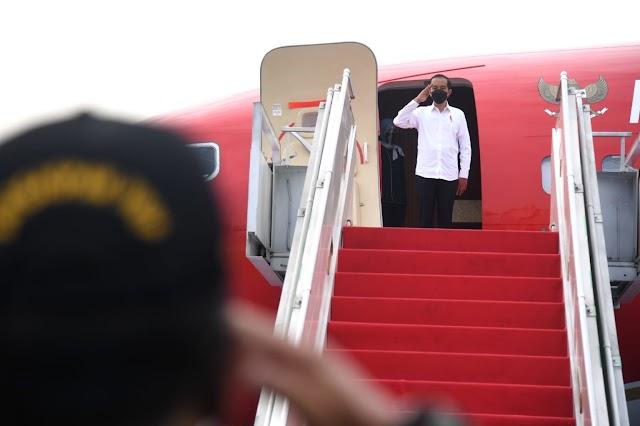 Kunjungi Lampung, Presiden Jokowi Tinjau Vaksinasi Pelajar dan Resmikan Bendungan