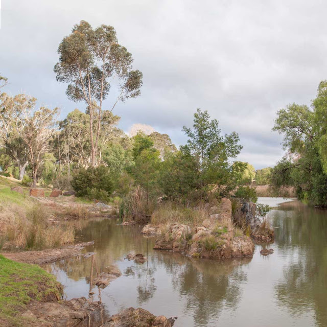 Photo (HDR and stitched) showing the Lerderderg River in Darley, Victoria, Australia