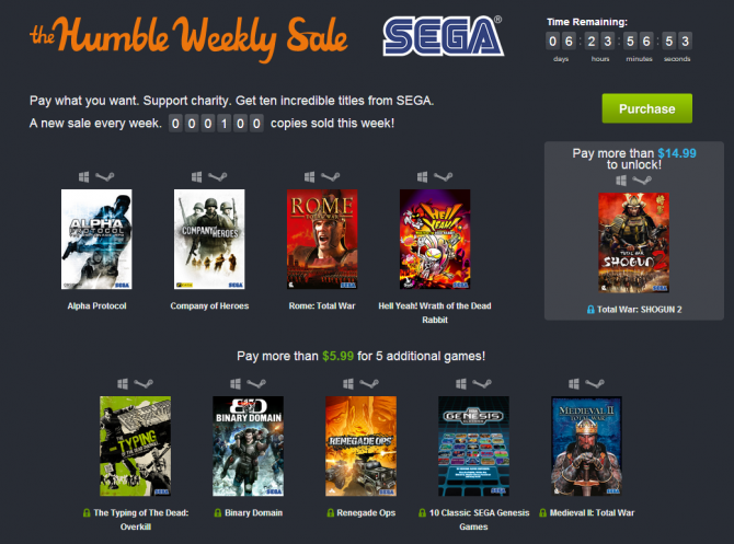 Humble Bundle Pinterest: SEGA Themed Humble Bundle Now Available For $5.99
