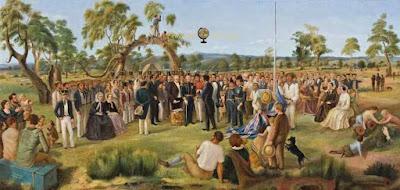 Asamblea de nuevos colonos en Australia
