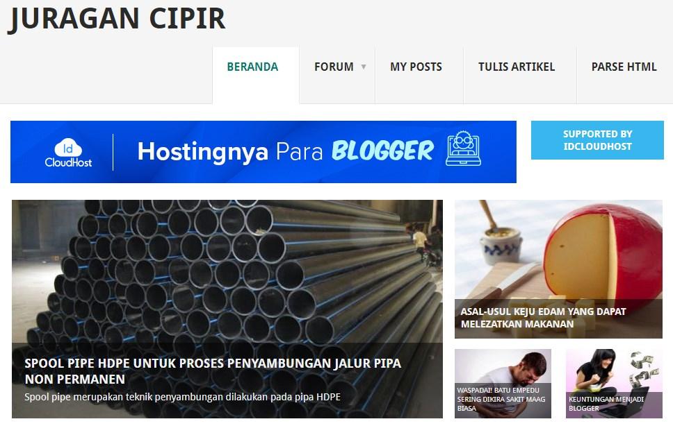 Situs,panduan,ngeblog,Juragan,cipir