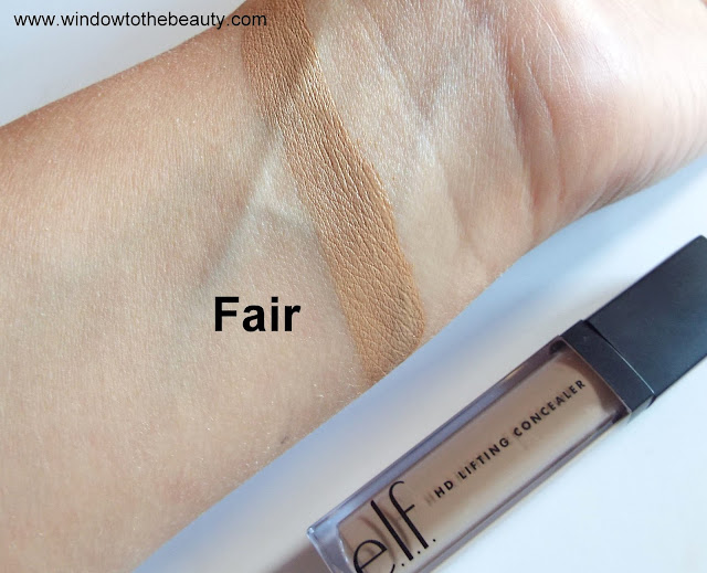 e.l.f. HD Lifting Concealer fair swatches