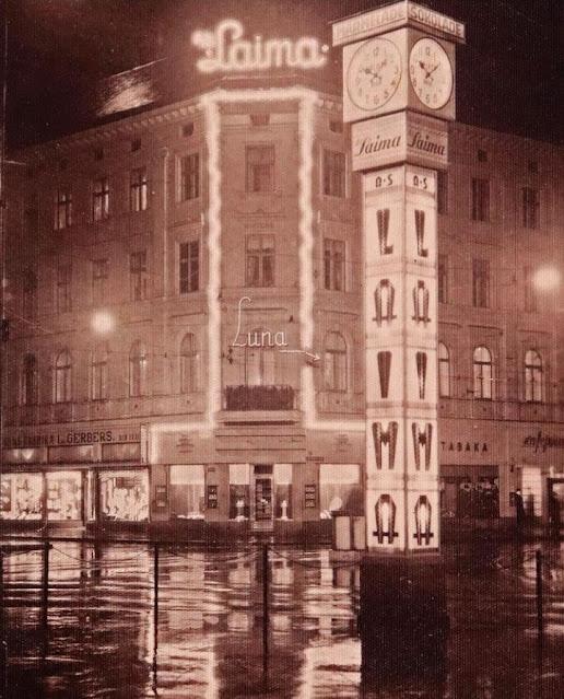 Часы лайма в Риге 1936 году