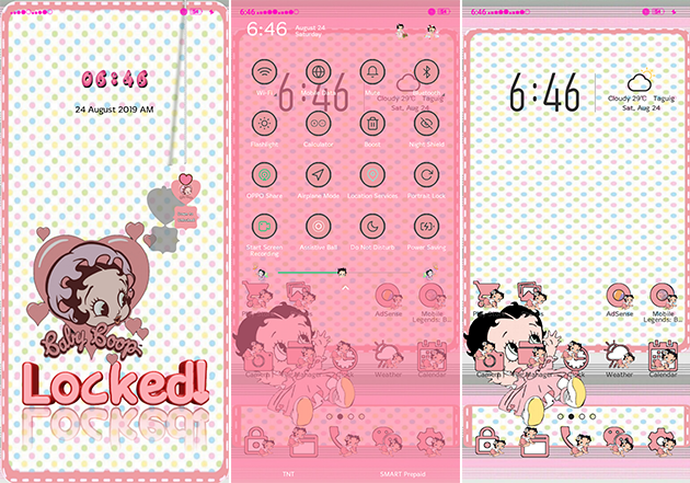 Oppo Theme: Betty Boop Theme Free Download for All