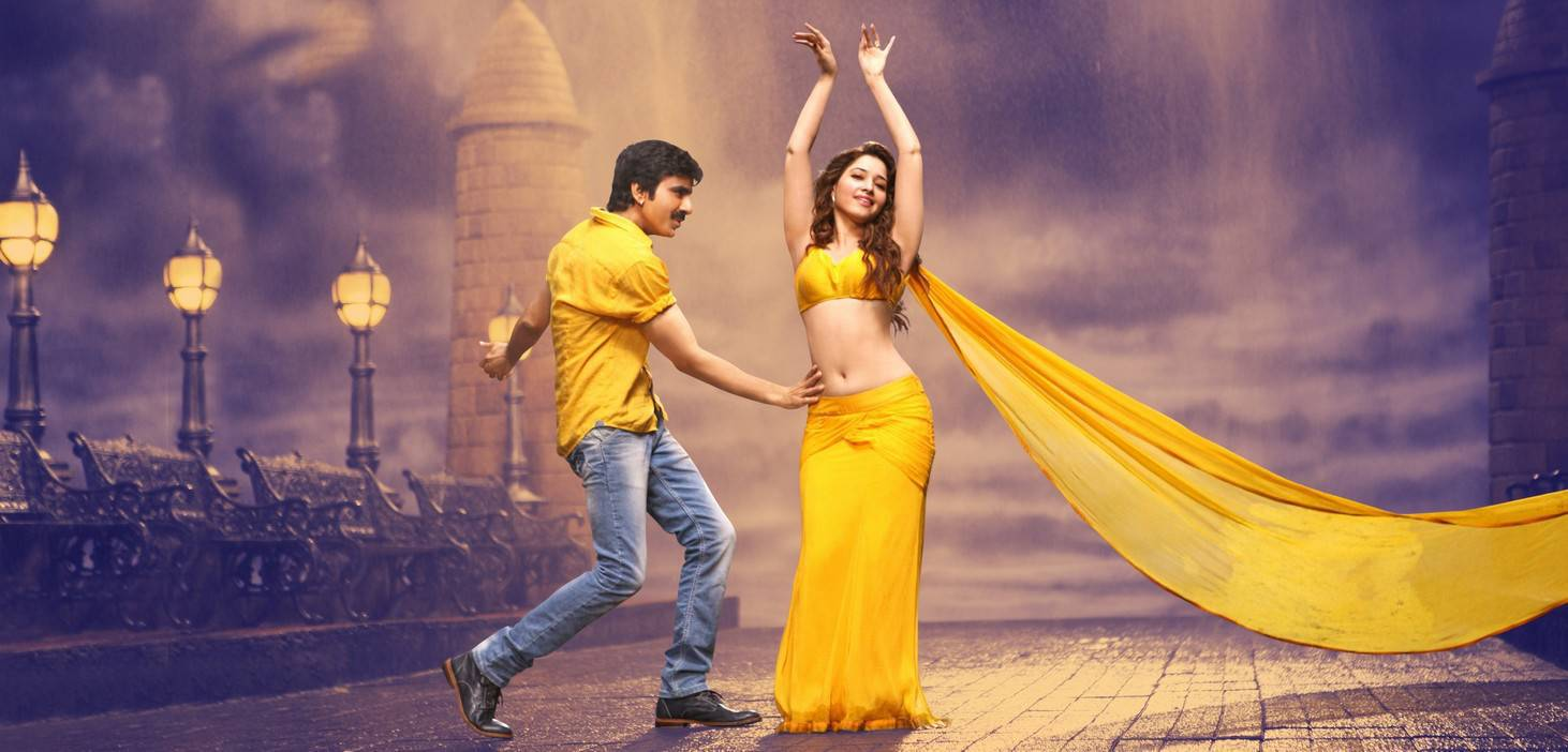 Tamanna Navel Show In Bengal Tiger Movie