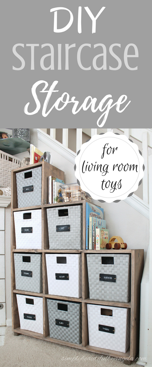 Simply Beautiful By Angela Diy Staircase Storage Unit For Living Room Toys