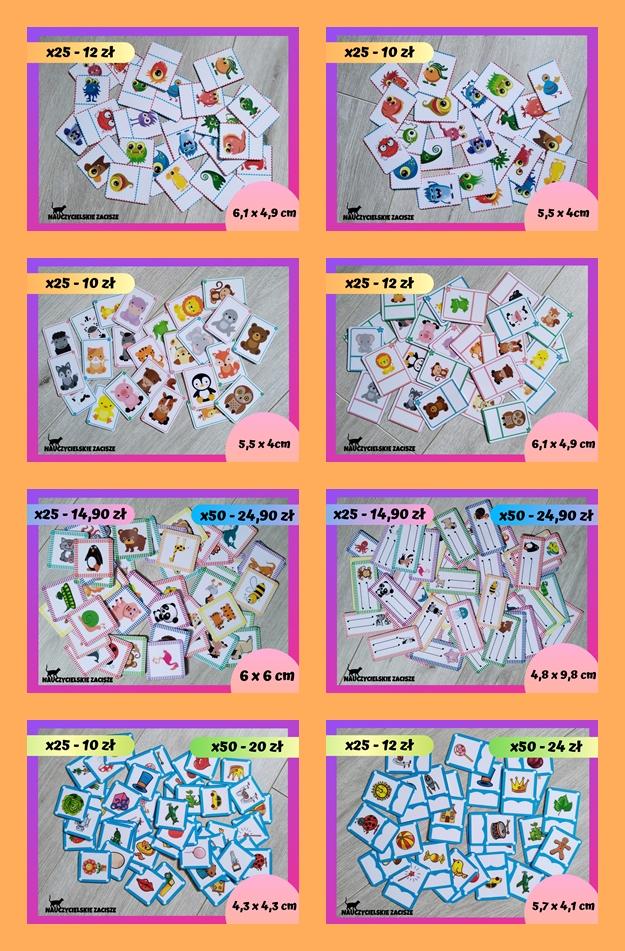 etykietki znaczki do szatni łazienki półki w przedszkolu