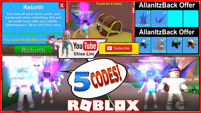 Chloe Tuber Roblox Mining Simulator Gameplay My Rebirth Vip And