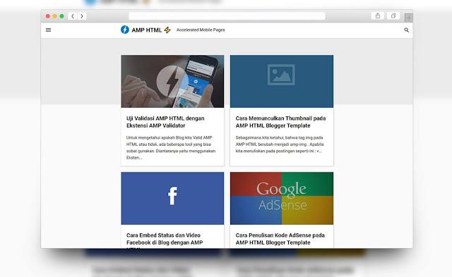 template blogger amp html gratis