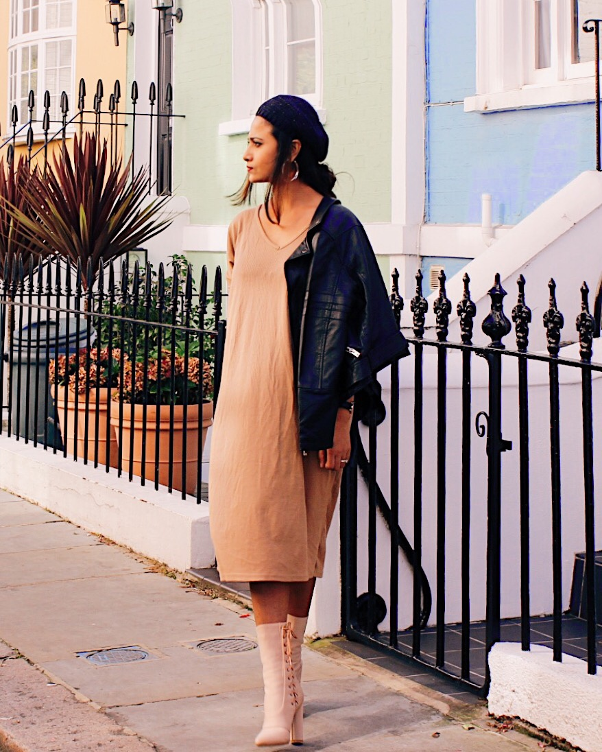 BERET TREND 2018, HOW TO WEAR BERET, beret, effortless chic, chic, french style, parisian style, trends 2018, nude dress, indian blogger, uk blog,