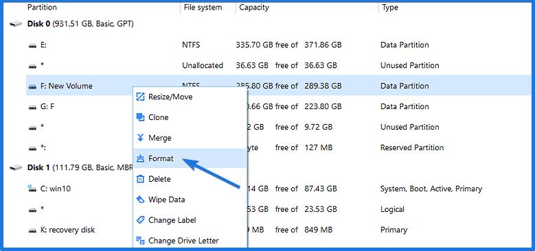 Restore USB drive to Original State
