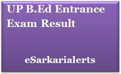 UP B.Ed Entrance Exam Result