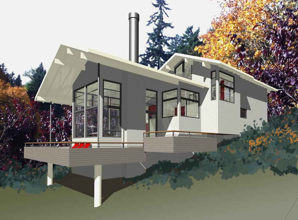 mcm design modern house plan 2 exteriors On modern house plan 2012