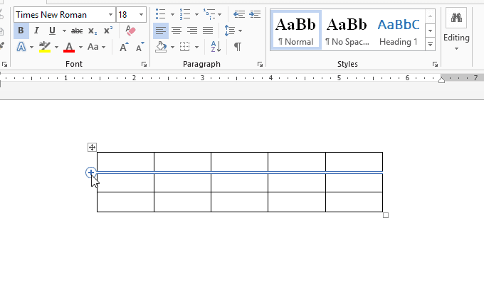chèn, xóa cột hay hàng trong bảng trong Word