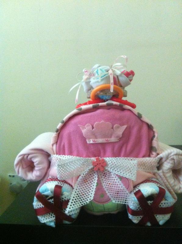 Shana S Diaper Cake Princess Carriage
