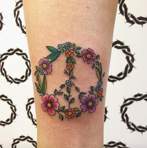 Este floral sinal de paz