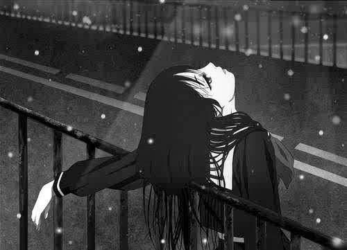 Грустные аниме картинки про одиночество девушки