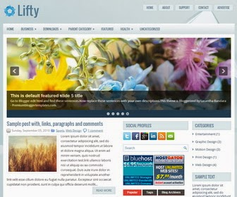 Lifty Blogger Template