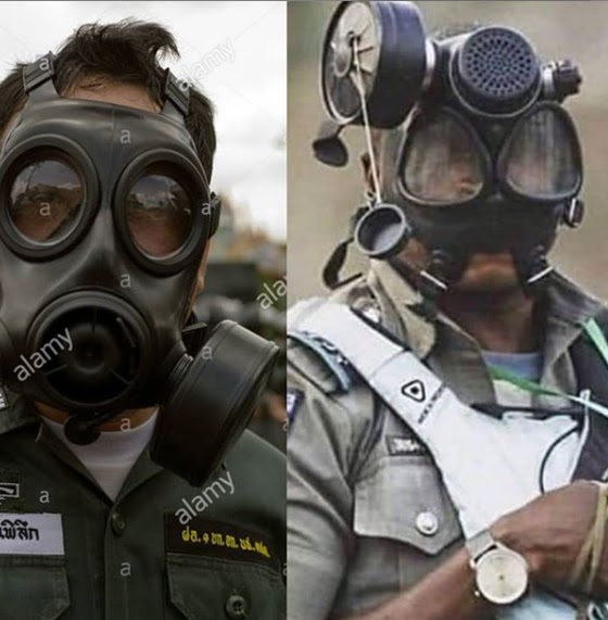 Spot the difference between this Nigerian Military officer and American military officer