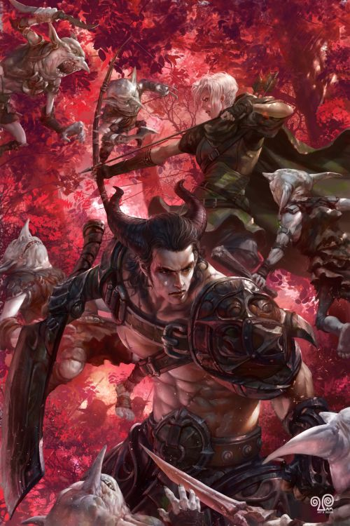Mansik Yang artstation deviantart arte ilustrações fantasia ficção games