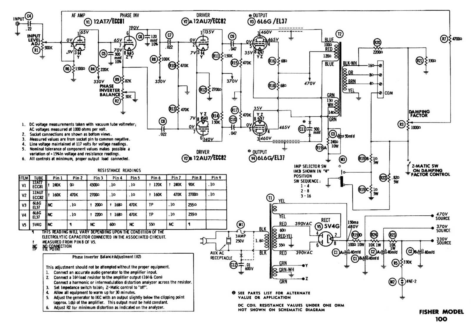 Stereo Tube Amplifier Schematics Schematic Diagrams Otl Headphone Circuit Diagram Amplifiercircuit Fisher Product Wiring U2022 Audio