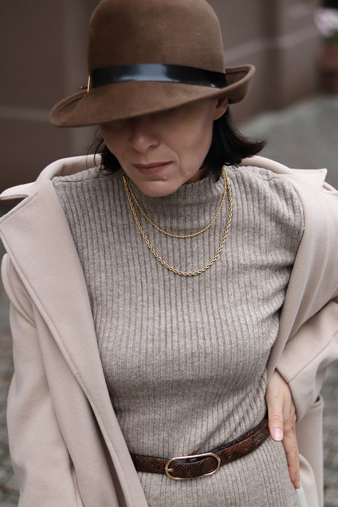 kapelusz damski stylizacje zima