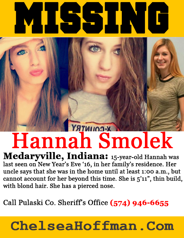 Indiana: Hannah Smolek missing Dec. 31, 2016
