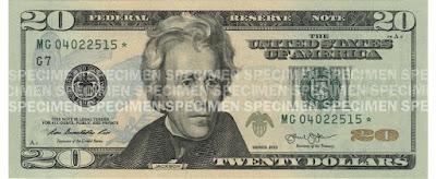 U.S. $20 Bill - Source: https://www.uscurrency.gov/denominations/20