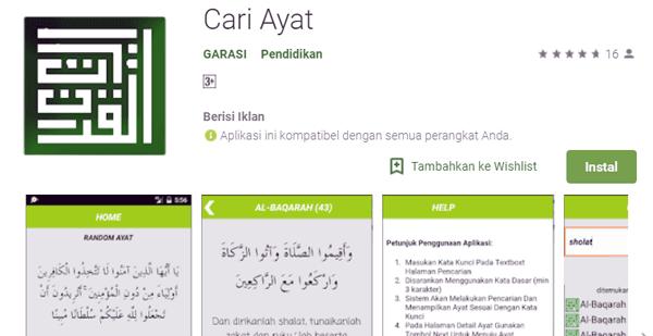 aplikasi untuk menemukan ayat alquran serta terjemahan