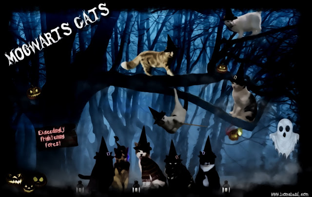 Mogwarts Cats ©BionicBasil® Caturday Art