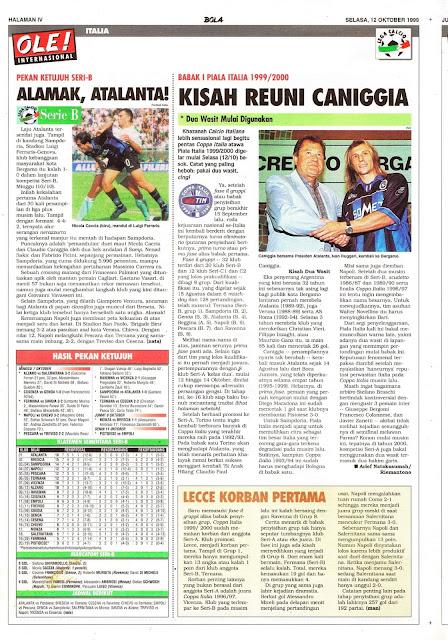 PIALA ITALIA 1999/2000 KISAH REUNI CANIGGIA