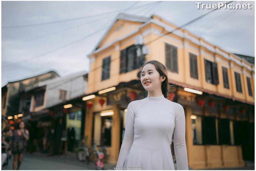 Image Vietnamese Cute Girl - Vo Xuan Chau - Ao Dai at Hoi An - TruePic.net - Picture-8