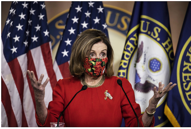 Nancy Pelosi narrowly re-election US House Speaker