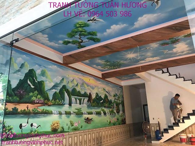 vẽ tranh tường tại thị trấn yên lạc vĩnh phúc3