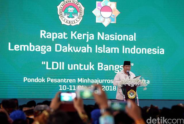 Tiru Reagen dan Trump, Prabowo: Make Indonesia Great Again!