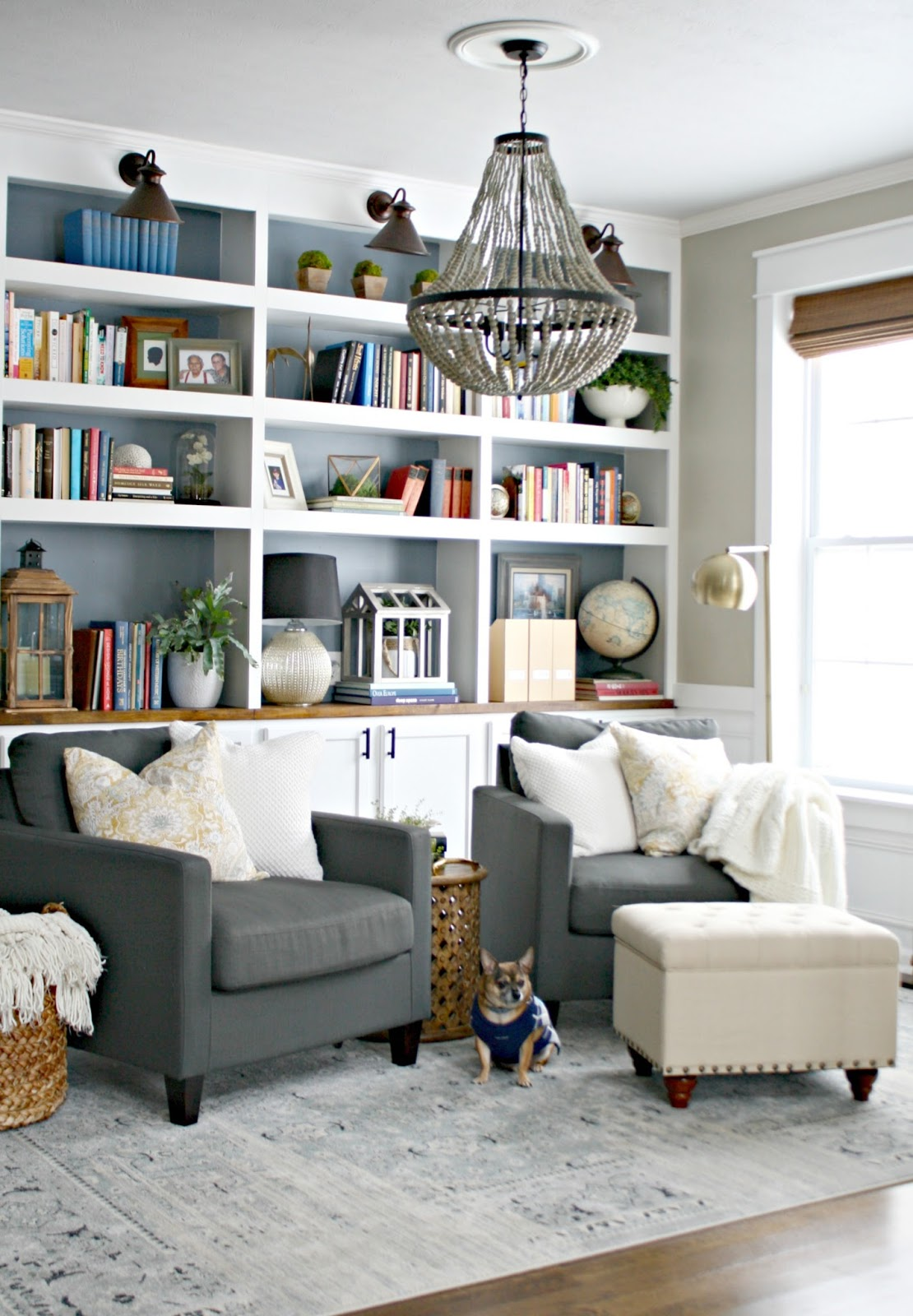 Living Room Library Design Ideas: The Library Is Complete! (for Real This Time) From Thrifty