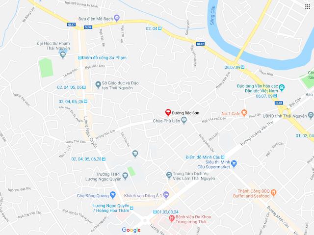 Vị trí khu nhà ở Bắc Sơn Sông Hồng