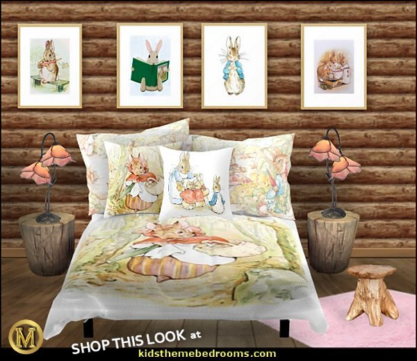 peter rabbit bedroom - decorating peter rabbit theme bedroom - peter rabbit theme room ideas -  Beatrix Potter themed nursery - beatrix potter nursery decor - Beatrix Potter Nursery Murals - peter rabbit nursery decorating ideas - Peter Rabbit Beatrix Potter art - Beatrix Potter wall decals  Peter Rabbit bedding - peter rabbit wall murals - beatrix potter characters plush toys - bunny rabbit decor - bunny baby bedrooms - bunny rabbit theme bedrooms