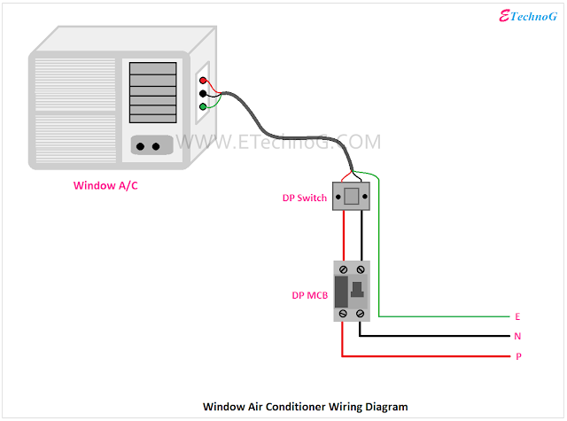 Air Conditioner Wiring, Wiring diagram of Air Conditioner