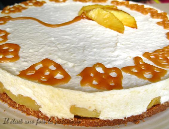 dessert bavarois pommes et spéculoos